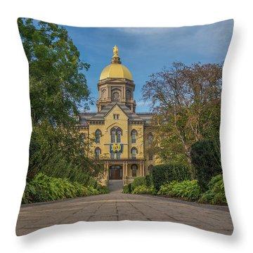Notre Dame University Q Throw Pillow by David Haskett