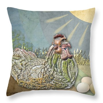 Now What.... Throw Pillow by Arline Wagner