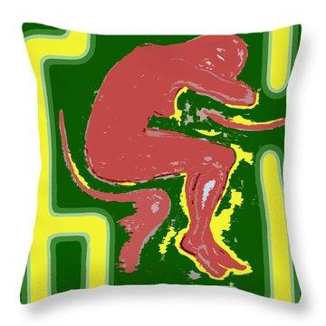 Nude 17 Throw Pillow by Patrick J Murphy