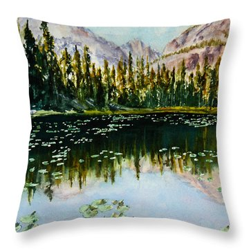 Nymph Lake Throw Pillow by Mary Benke