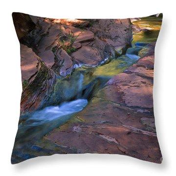 Oak Creek Canyon Splendor Throw Pillow by Sandra Bronstein