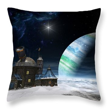 Observatory Throw Pillow by Cynthia Decker