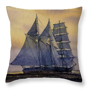 Ocean Dawn Throw Pillow by James Williamson