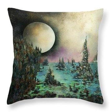 Ocean Moonrise Throw Pillow by Kaye Miller-Dewing