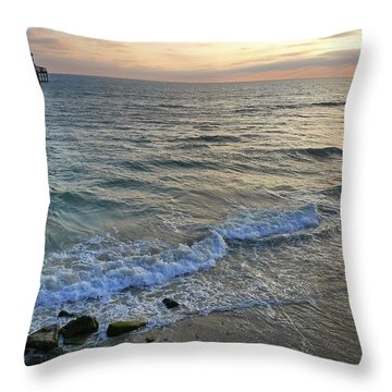Oceanside Throw Pillow by Skip Hunt