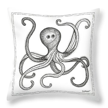 Octopus Throw Pillow by Stephanie Troxell