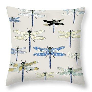 Odonata Throw Pillow by Sarah Hough