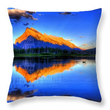 Of Geese And Gods Throw Pillow by Scott Mahon