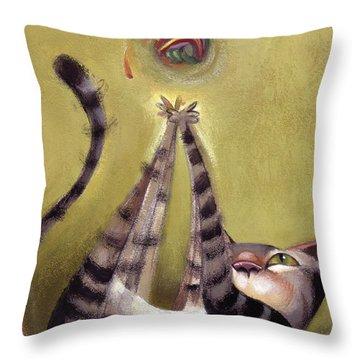 Oh Boy Throw Pillow by Barbara Hranilovich