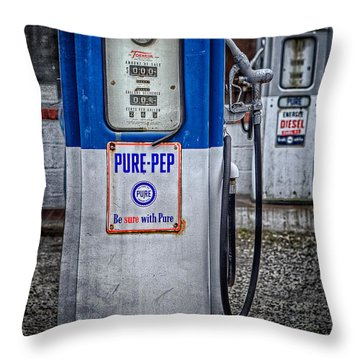 Old And Rusty  Pump  Throw Pillow by Emmanuel Panagiotakis