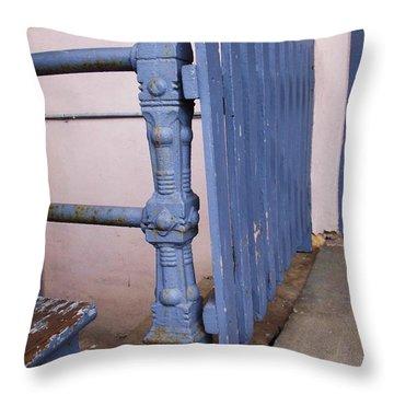 Old Blue Gate Throw Pillow by Anna Villarreal Garbis