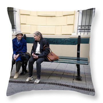 Old Friends Throw Pillow by Madeline Ellis