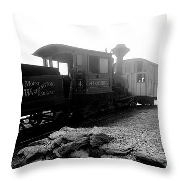 Old Locomotive Throw Pillow by Sebastian Musial