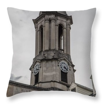 Old Main Penn State Clock  Throw Pillow by John McGraw