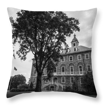 Old Main Penn State Throw Pillow by John McGraw