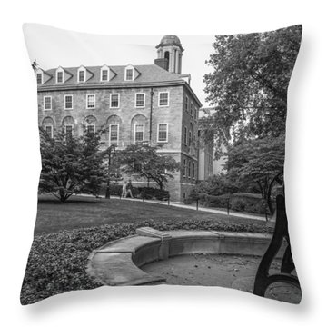 Old Main Penn State University  Throw Pillow by John McGraw
