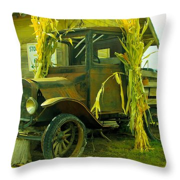 Old Model T  Throw Pillow by Jeff Swan