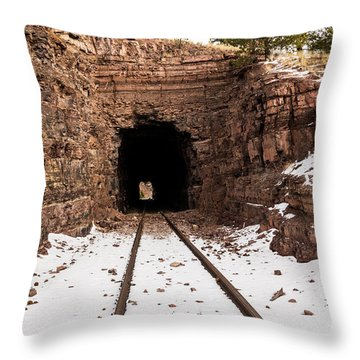 Old Railroad Tunnel Throw Pillow by Sue Smith