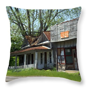 Old Store Throw Pillow by Marty Koch