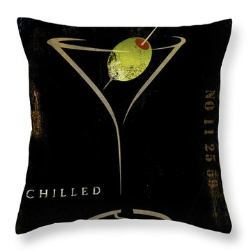 Olive Martini Throw Pillow by Mindy Sommers