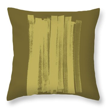 Olive On Olive 1 Throw Pillow by Julie Niemela