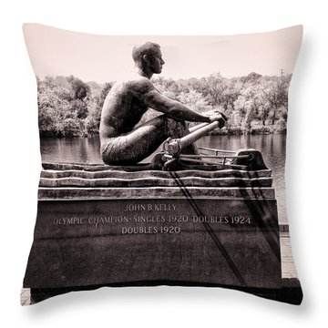 Olympic Champion - John B Kelly Throw Pillow by Bill Cannon