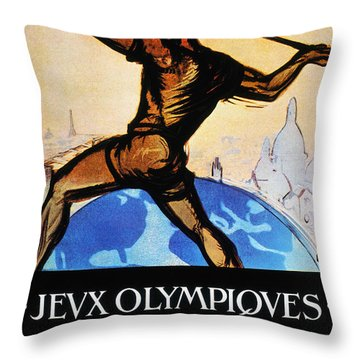 Olympic Games, 1924 Throw Pillow by Granger