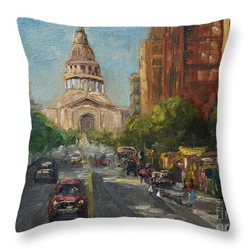 On Congress Throw Pillow by Lisa  Spencer