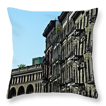 On Franklin Street Throw Pillow by Sarah Loft