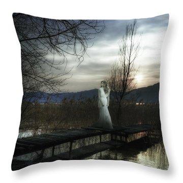 On The Bridge Throw Pillow by Joana Kruse
