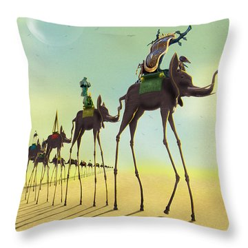 On The Move 2 Throw Pillow by Mike McGlothlen