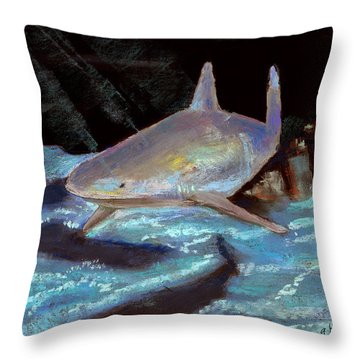 On The Prowl Throw Pillow by Arline Wagner
