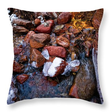 On The Rocks Throw Pillow by Christopher Holmes