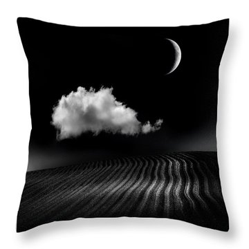 One Cloud Throw Pillow by Mal Bray