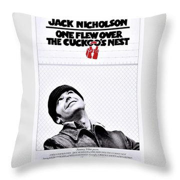 One Flew Over The Cuckoo's Nest Throw Pillow by Movie Poster Prints