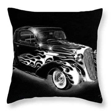 One Hot 1936 Chevrolet Coupe Throw Pillow by Peter Piatt