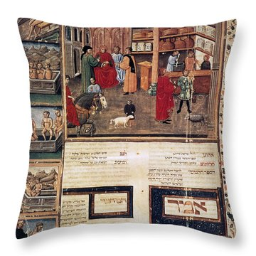 Open-air Pharmacy Throw Pillow by Granger