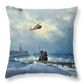 Operation Kama Throw Pillow by Valentin Alexandrovich Pechatin