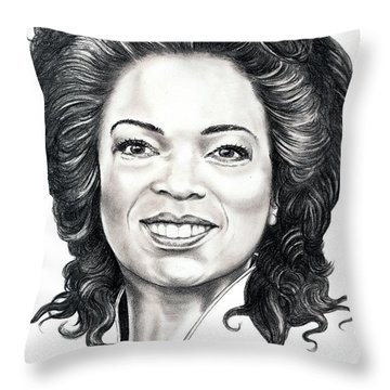 Oprah Winfrey  Throw Pillow by Murphy Elliott