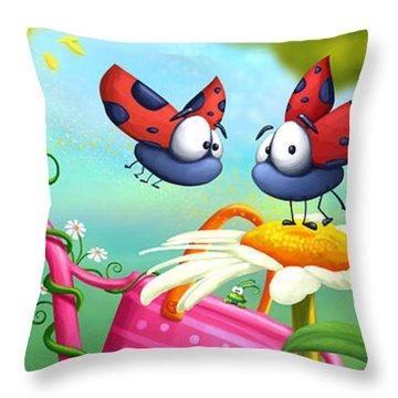 Optimistic Zoom Throw Pillow by Tooshtoosh