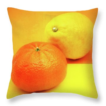 Orange And Lemon Throw Pillow by Wim Lanclus