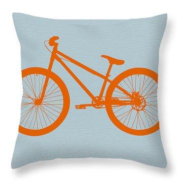 Orange Bicycle  Throw Pillow by Naxart Studio