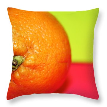 Orange Throw Pillow by Linda Sannuti
