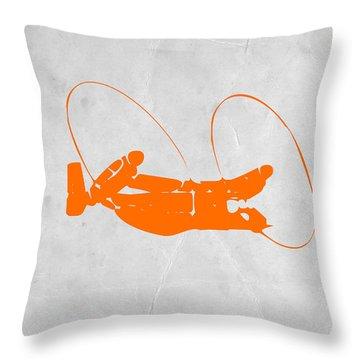Orange Plane Throw Pillow by Naxart Studio