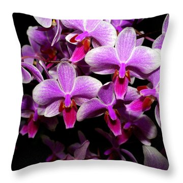 Orchid 12 Throw Pillow by Marty Koch