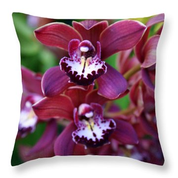 Orchid 20 Throw Pillow by Marty Koch
