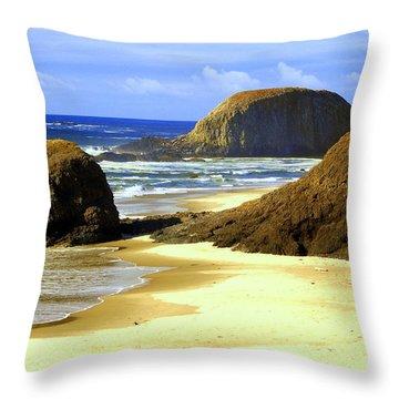 Oregon Coast 18 Throw Pillow by Marty Koch