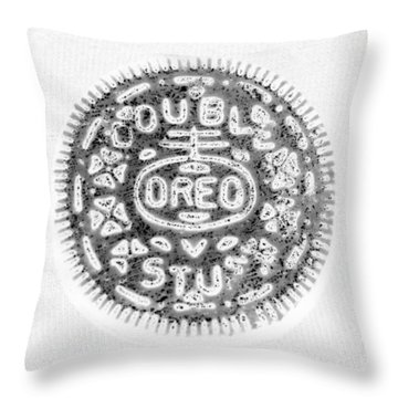 Oreo In Negetive Throw Pillow by Rob Hans