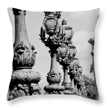 Ornate Paris Street Lamp Throw Pillow by Ivy Ho