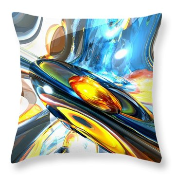 Oscillating Color Abstract Throw Pillow by Alexander Butler